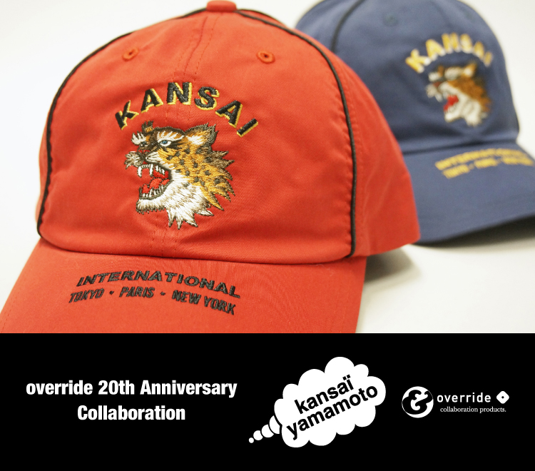 override 20th anniversary collaboration vol.1; KANSAI YAMAMOTO 山本寛斎