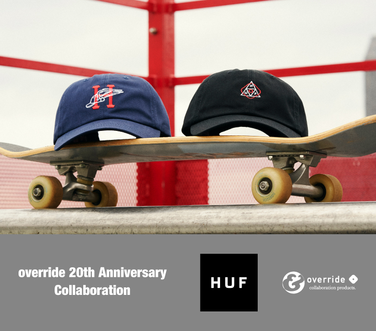 override 20th anniversary collaboration vol.3; HUF