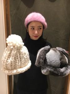 帽子2つ松永