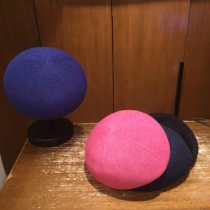 ベレー青ピンク